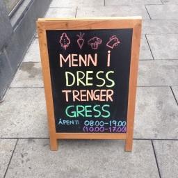 Å selge grønt til mannfolk